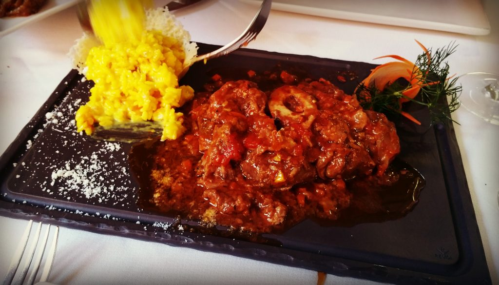 Traditional Ossobuco with Saffron Rice - Piccola Italia San Agustin, Gran Canaria